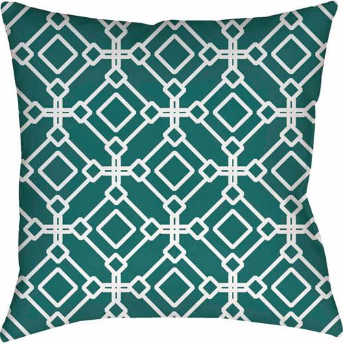 Thumbprintz Modern Geometric Emerald Pillow