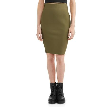 Shinestar Juniors' Solid Bandage Pencil Skirt ()
