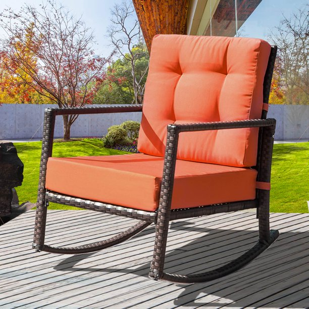 Wicker Patio Rocking Chair Outdoor