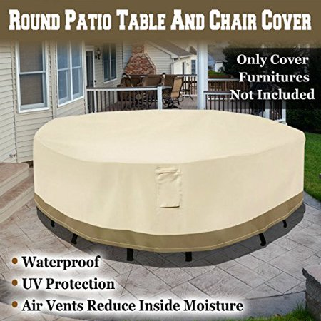 Strong Camel Round Patio Table/Chair Cover Garden Outdoor Furniture Cover Winter Protect ()