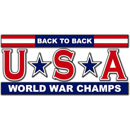 USA - Back to Back World War Champs 5.5 Inch (Back To Back World War Champs Womens)