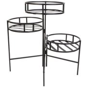 """Panacea 21"""" 3-Tier Round Fold Out Contemporary Plant Stand"""