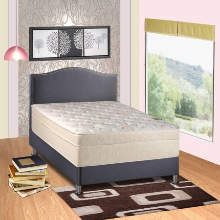 Continental Sleep Eurotop Foam Encased Luxury Extra Firm 13  Innerspring Mattress  Multiple Sizes