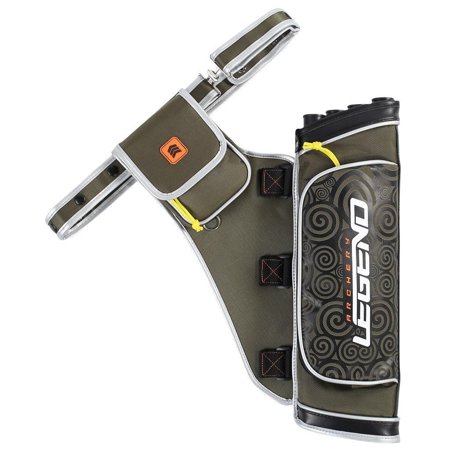 Legend Archery Hip Quiver 4-Tube Multi-Pocket Nylon Hip Arrow Holder Summit Archery (right hand) (Army (Legend Arrow)