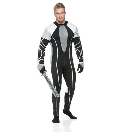 Adult Male Hunger Survivor Jumpsuit Costume by Charades - Cheap Hunger Games Costumes