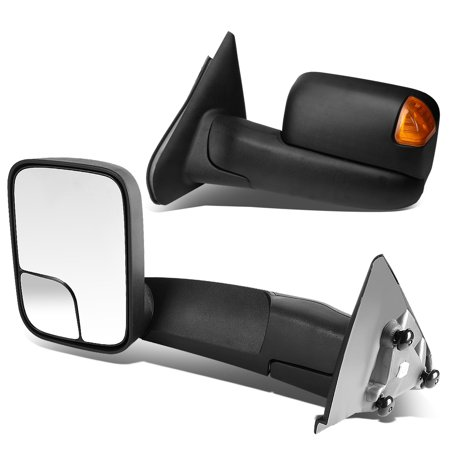 For 2002-2009 Dodge Ram 1500-3500 Tow Mirrors Amber LED Turn Signal - 2009 Dodge 2500