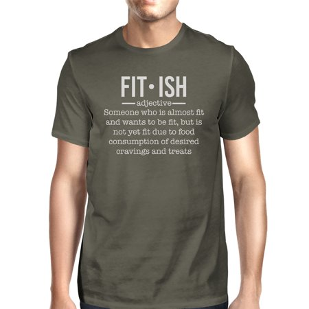 Fit-ish Mens Cool Grey Lightweight Workout Theme T-Shirt for Gifts](Halloween Themed Workout Ideas)