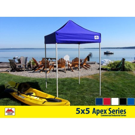 5x5 Apex Series 3 Commercial Pop Up Canopy with Royal Blue 600D top