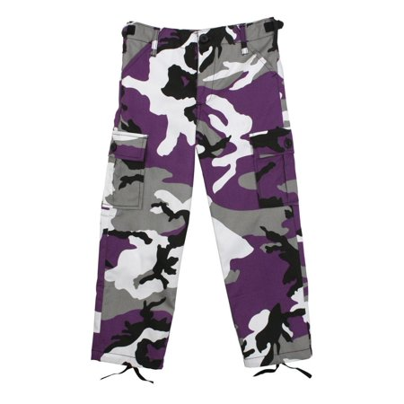 Us Style Bdu Pants - Rothco Kid's Military Style BDU Pants, Ultra Violet Camo