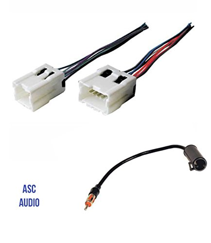 asc audio car stereo radio wire harness and antenna adapter to aftermarket radio for some infiniti nissan etc vehicles listed below Wiring Harnes Adapter
