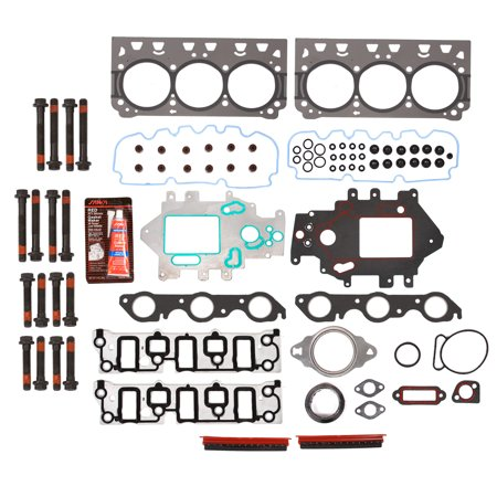 Evergreen HSHB8-10438S-GP Head Gasket Set Head Bolts Fit 04-07 Pontiac Grand Prix Supercharged 3.8 12V VIN - Grand Prix Supercharged