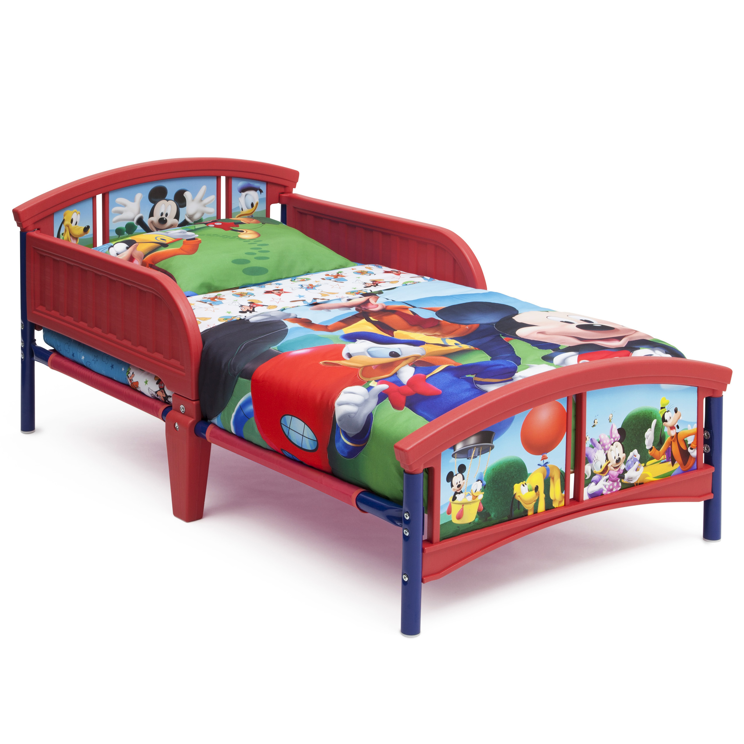 Delta Children Disney Mickey Mouse Plastic Toddler Bed, Multiple Forms