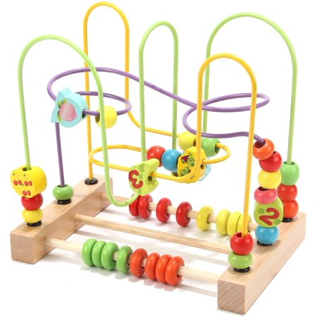 Preschool Fruit Bead Maze Roller Coaster Educational Toys for 1 2 3 Years Old Boys Girls Gifts