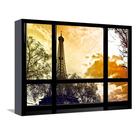 Window View, Special Series, Eiffel Tower at Sunset, Paris, France ...