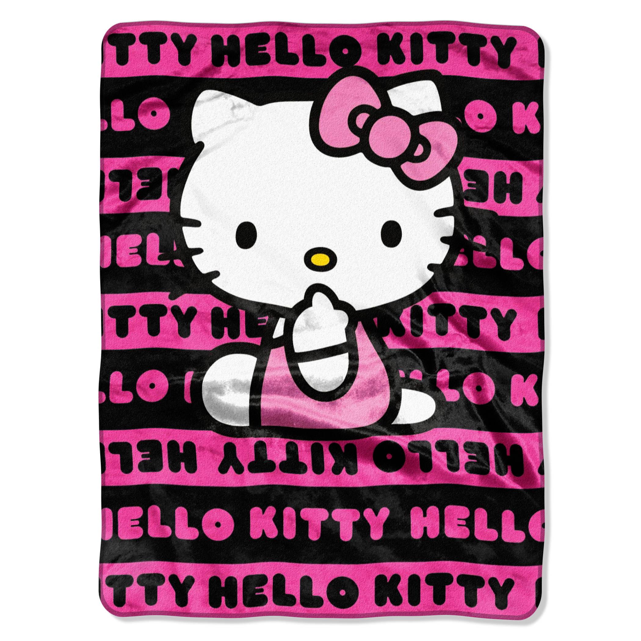Hello Kitty Royal Plush Raschel 100 Polyester Throw Blanket