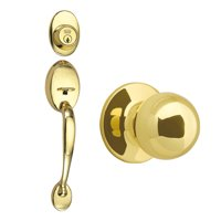 Design House 780940 Coventry 2-Way Latch Entry Door Knob Set with Knob, Polished Brass