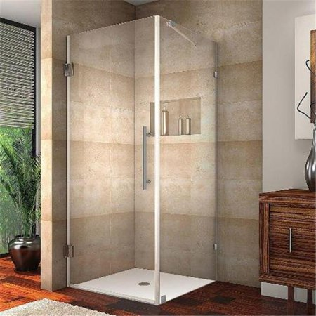 AstonGlobal SEN988-SS-34-10 Aquadica 34 x 34 x 72 in. Completely Frameless Square Shower Enclosure in Stainless Steel - image 1 of 1