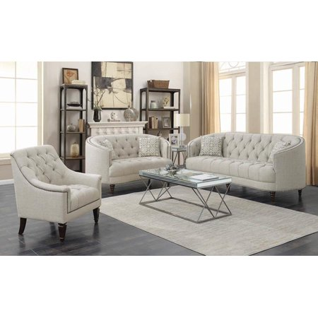 Avonlea Traditional Beige Sofa Couch