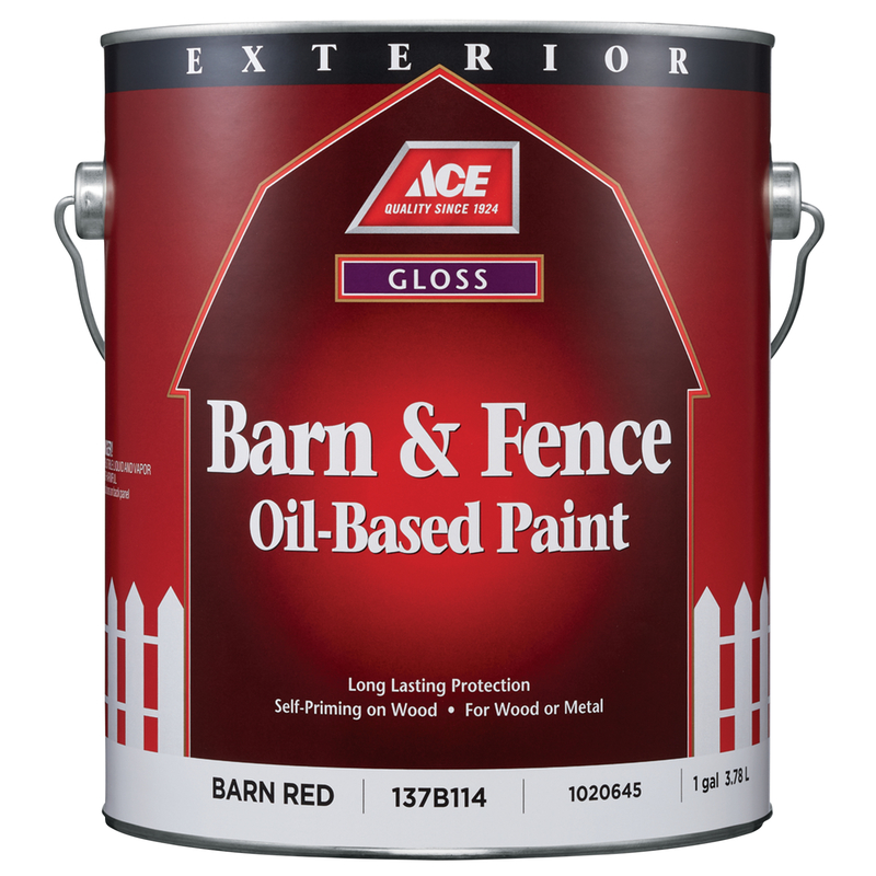 Ace Gloss Barn Red Oil-Based Barn and Fence Paint Outdoor ...