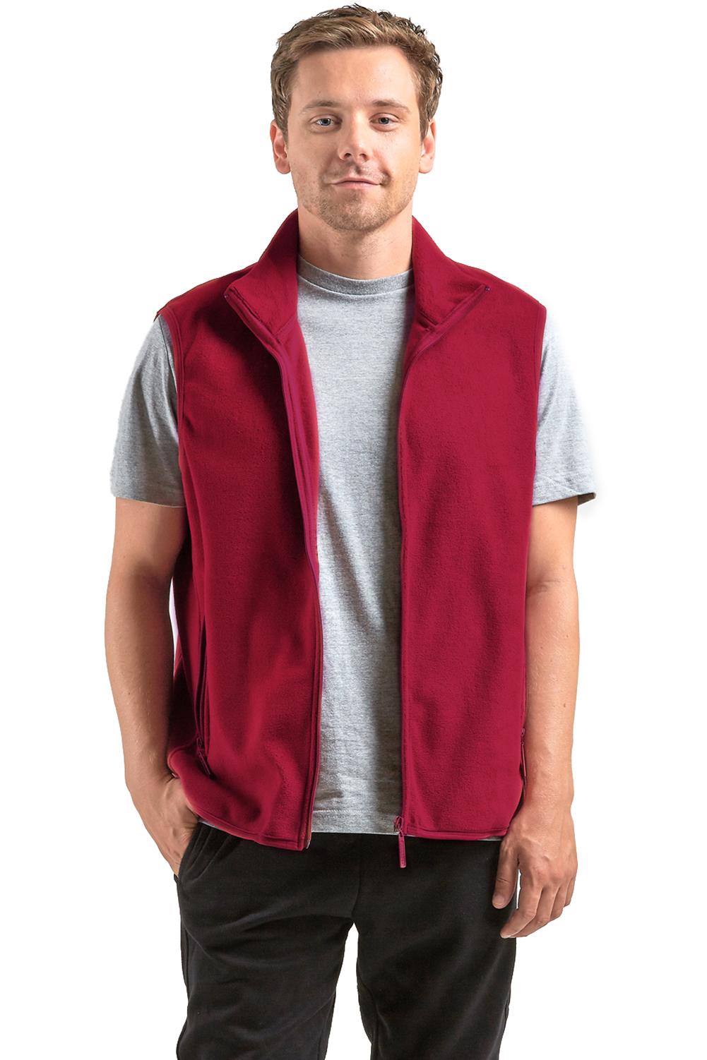 Knocker Men's Polar Fleece Zip Up Vest