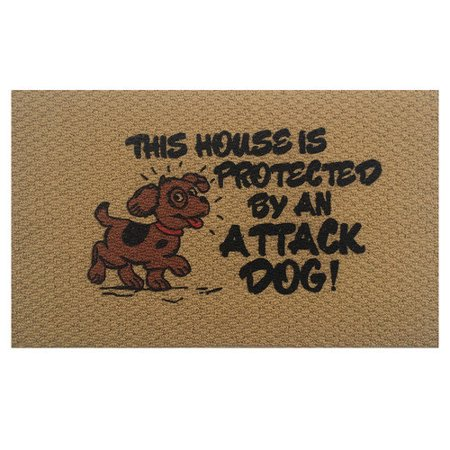 Home & More Attack Dog Doormat