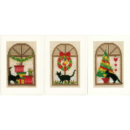 Christmas greeting cards on aida counted cross stitch kit 42x6 14 christmas greeting cards on aida counted cross stitch kit 42x6 14 count m4hsunfo