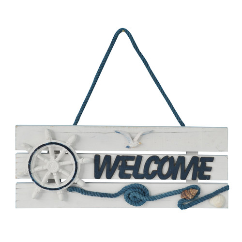 Attraction Design Home Hand Painted Nautical Welcome Sign Wall D cor