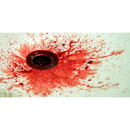 Canvas Print Spatter Red Sink The Stain Hand Basin Blood Stretched Canvas 10 x - Blood Spatter Shoes
