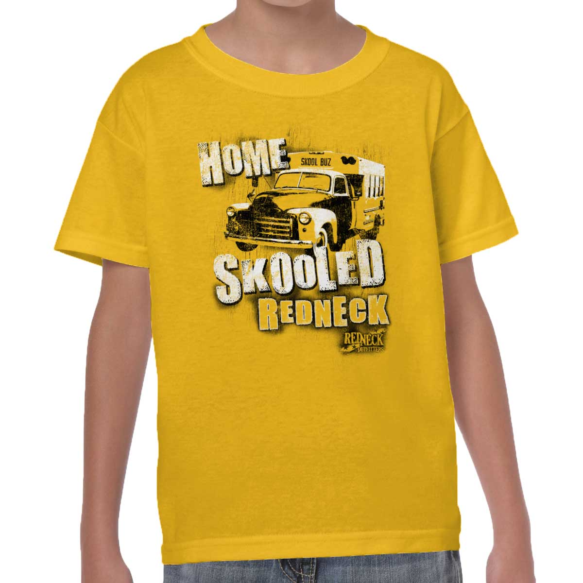 Home Skooled Funny Shirt | Redneck Country Hick Rodeo Cowboy Youth T-Shirt