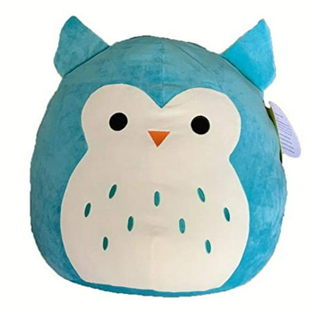 8 Inch Turquoise 'Winston' The Owl Stuffed Plush Toy By Squishmallow - Stuffed Owl Toy