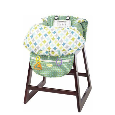 Printed Baby Child Supermarket Trolley Dining Chair Protection Antibacterial Safety Travel Cushion Portable Shopping Cart Cushion - image 3 de 9