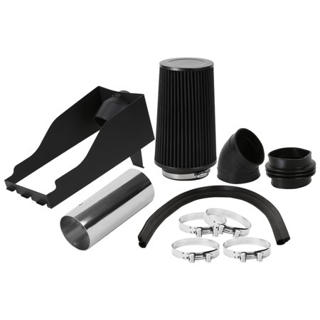 Spec-D Tuning For 1999-2003 Ford F250 F350 7.3L V8 Chrome Cold Air Intake System+Black Filter 1999 2000 2001 2002 2003 (2000 Ford F250 Cold Air Intake)