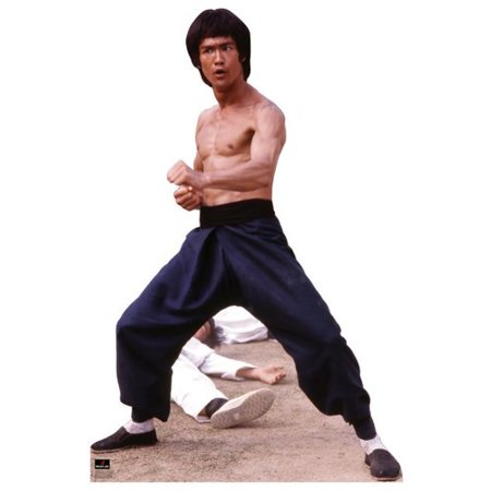 Bruce Lee Fight Stance Lifesize Standup Standee Cardboard Cutout Poster - Cardboard Standees