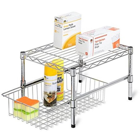 Honey Can Do Steel Under Cabinet Organizer with Pull out Tray,