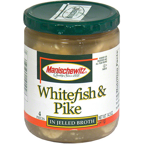 Manischewitz Whitefish & Pike In Jellied Broth, 14.5 oz (Pack of 6)