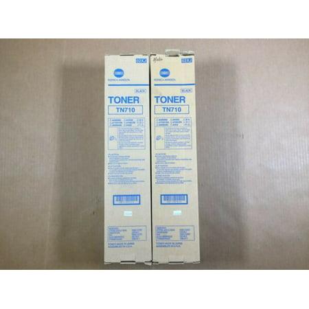 Lot of 2 OEM Konica Minolta Toner Catridge TN710 for Bizhub 600 601 750 751