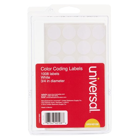 Universal Label Holder Kit - Universal Self-Adhesive Removable Color-Coding Labels, 3/4