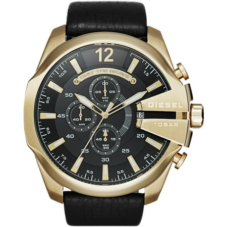 Mega Chief Leather Chronograph Mens Watch DZ4344 ()