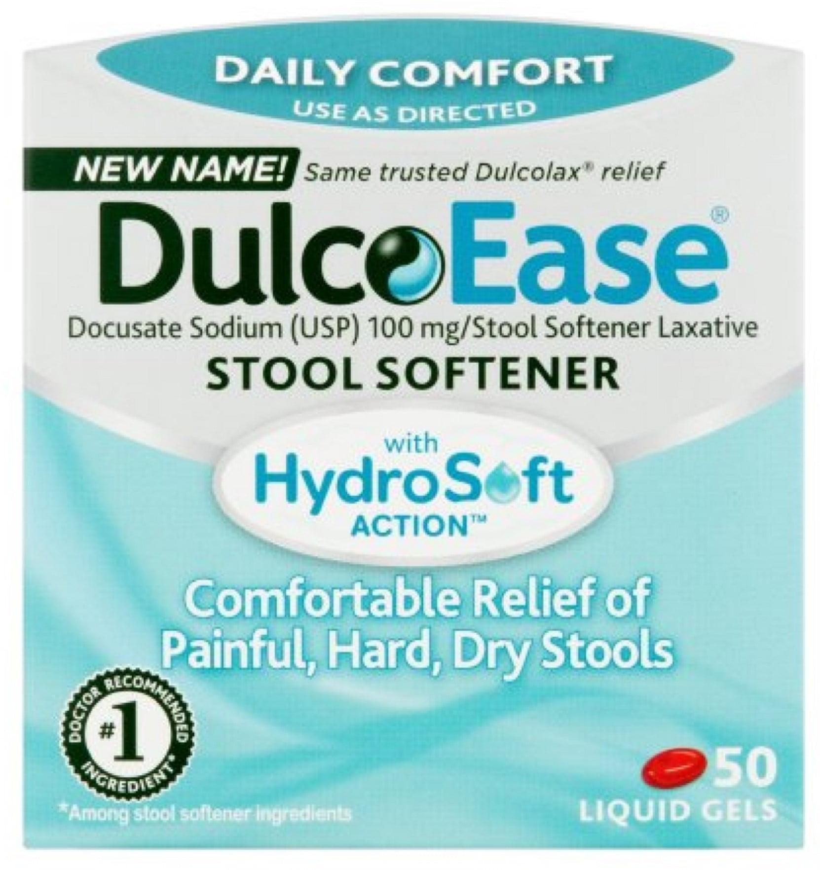 6 Pack Dulcoease Stool Softener Liquid Gels 50 Liquid