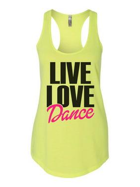 "4855a73d23f2e Product Image Women s Flowy Tank Top ""Live Love Dance"