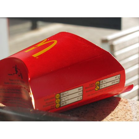 LAMINATED POSTER Empty Mcdonald's Waste Eating Food Junk Fries Poster Print 24 x -