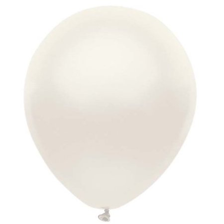 Partymate 72 Pearlized Silk White Latex Balloons 11