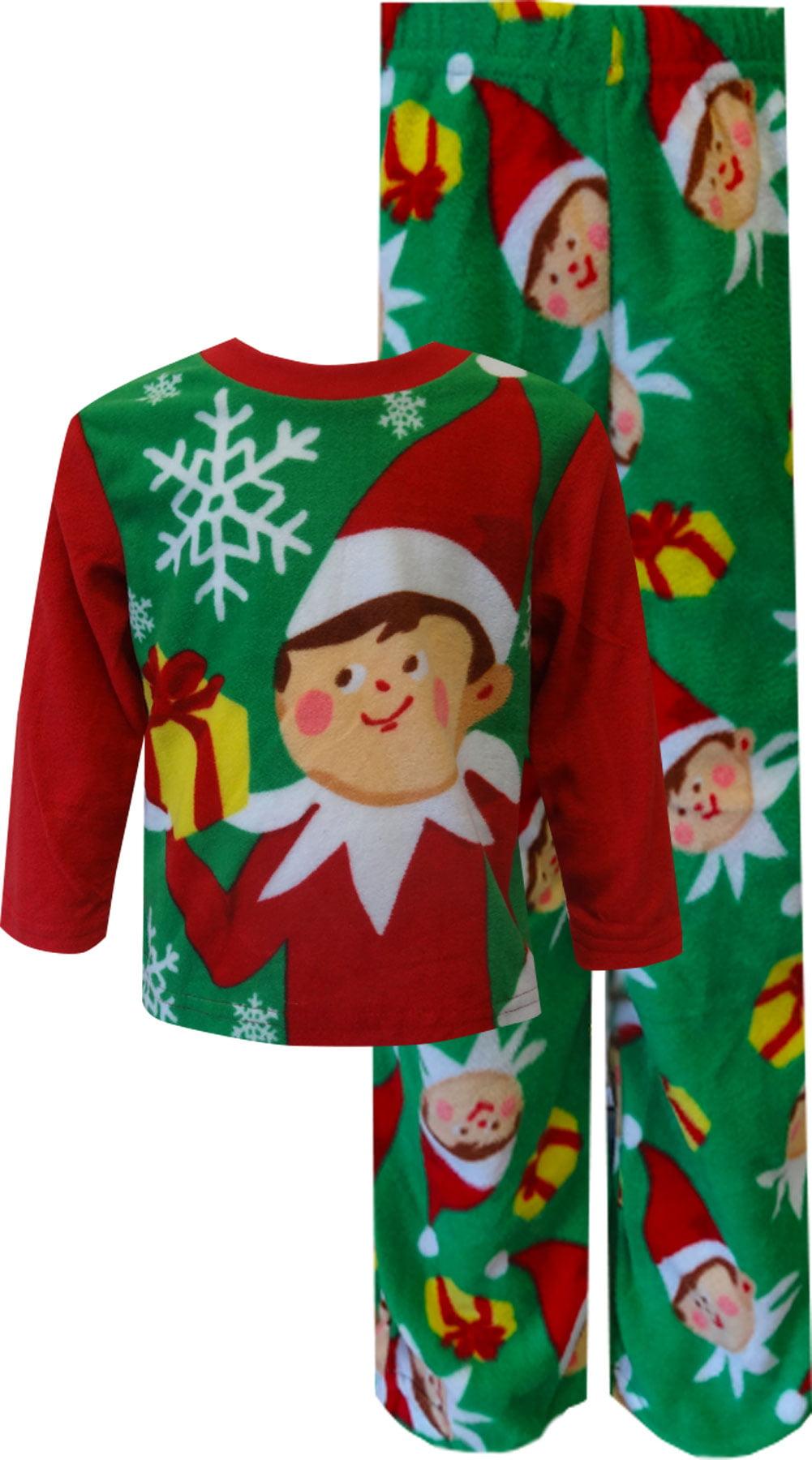 christmas is coming elf on the shelf fleece holiday toddler pajamas walmartcom - Elf Christmas Pajamas