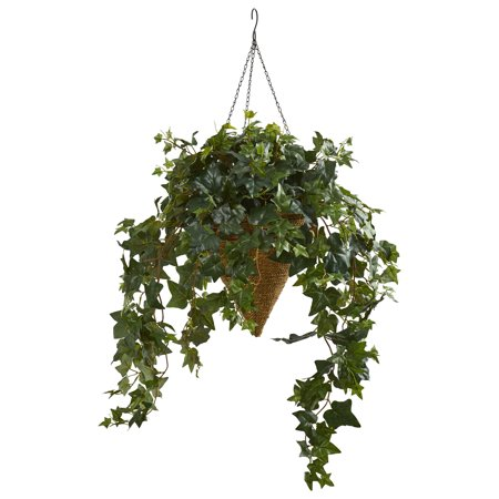 Nearly Natural Ivy Artificial Plant in Cone Hanging (Hanging Cone Natural)