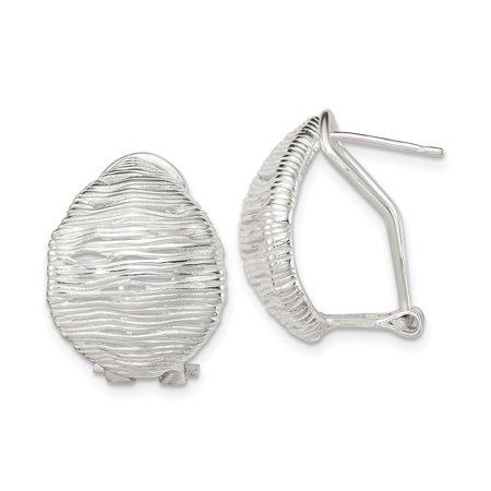 925 Sterling Silver Omega Back Earrings Drop Dangle Fine Jewelry For Women Gifts For Her - image 1 de 6