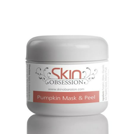 Skin Obsession Pumpkin Enzyme Mask & Peel with Glycolic acid Natural Skin Care Acne Scars Prone Anti Aging Reduce Wrinkles Sunburn Blackheads Dark Spots & Brightens Skin (Best Way To Reduce Acne Scars)