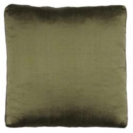 Indias Heritage C543 dark Olive Silk Dupioni Solid Box Throw Pillow, Dark Olive - 18 x 18 x 2 -