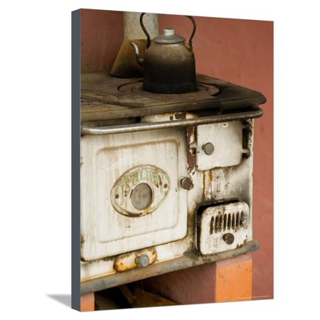 Classic Wood Stove, Estancia Santa Susan near Outskirts of Buenos Aires, Argentina Stretched Canvas Print Wall Art By Stuart