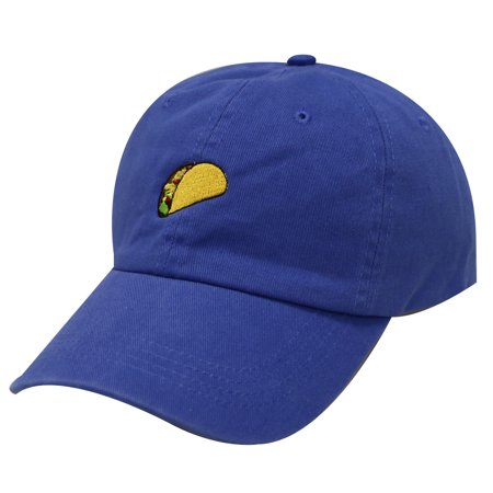 f11beb02 City Hunter C104 Taco Emoji Cotton Baseball Cap Dad Hats 15 Colors (Royal)  Image