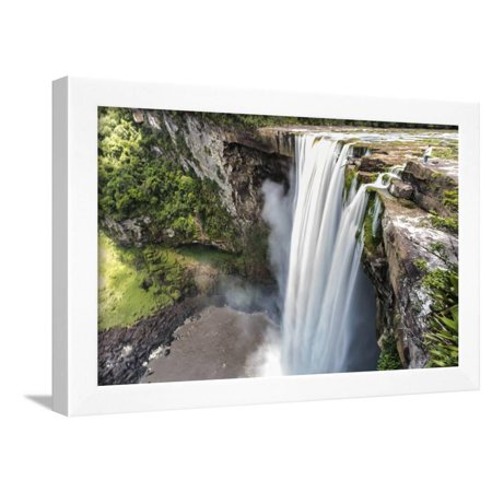 EAN 4699254719484 product image for Guyana, Kaieteur Falls. View of Waterfall Flowing into Basin Framed Print Wall A | upcitemdb.com